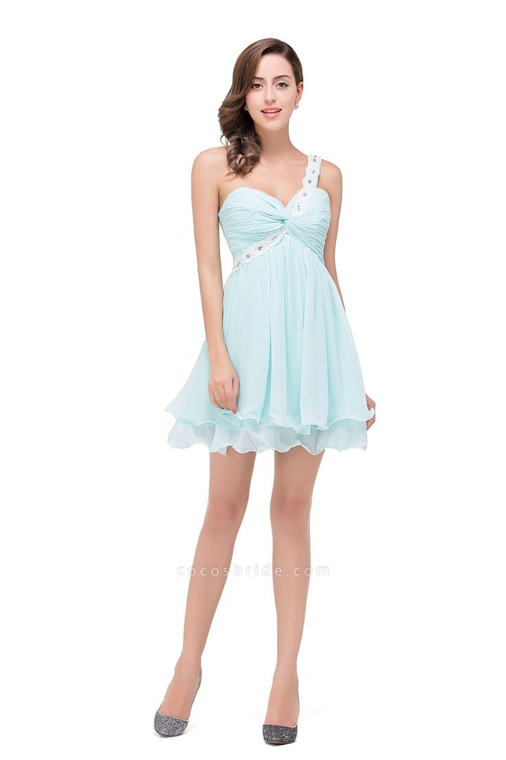 Attractive sweetheart chiffon aline dress