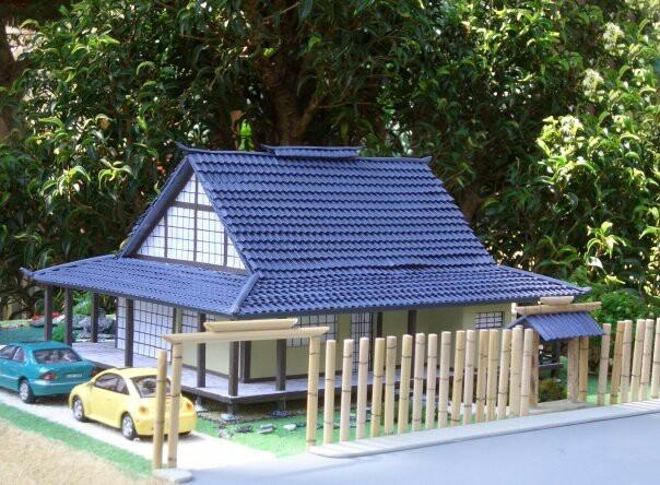 Casa japonesa maquetasquevedo casas japonesas for Casa clasica japonesa
