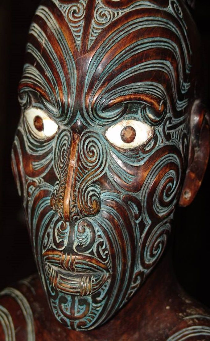 This fellow can be found at the fascinating Okains Bay Museum near Akaroa. A beautiful example of Maori carving. NZ