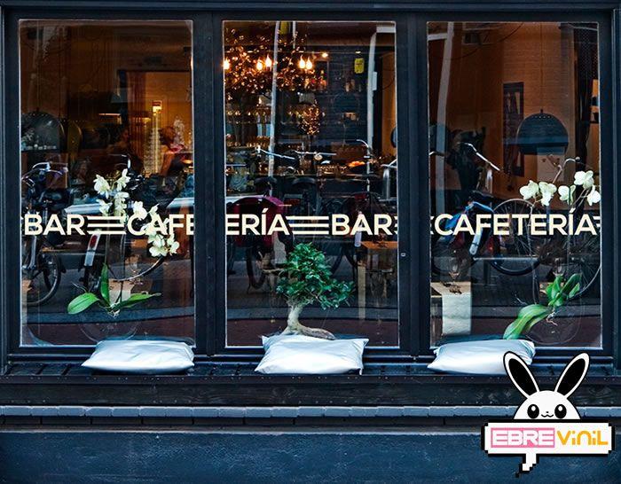Cenefa adhesiva en vinilo para decorar tu bar cafeter a - Cristales para paredes ...