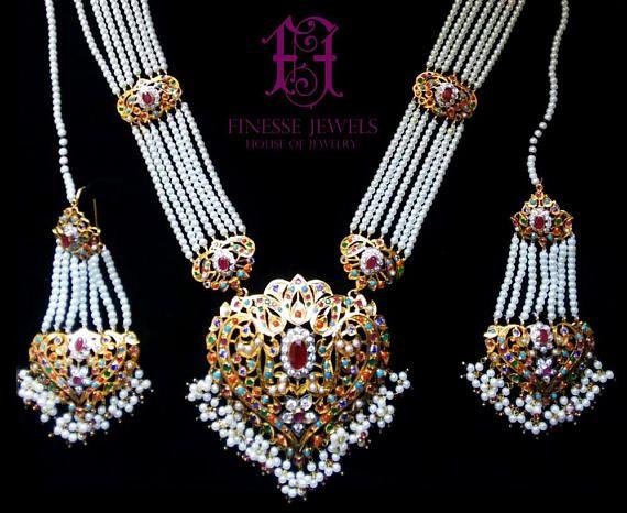 Hyderabadi Rani Haar 925 Silver Polki Jewelrypakistani Etsy Real Silver Necklace Pricing Jewelry Gold Jewelry Fashion