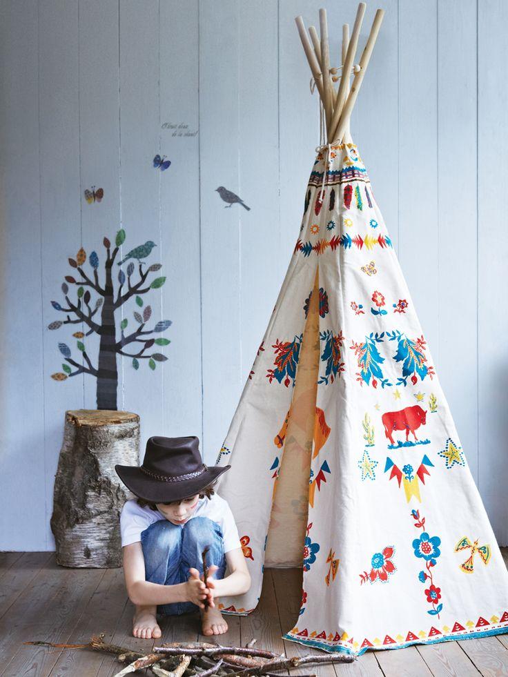 Cabana em algodão cru. Ideia para personalizar.