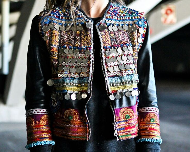 Ethnic jacket coins on skirts and stuff
