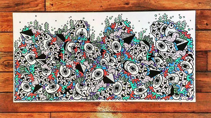 40x60 // AQUARIUM // #posca  P. // FREEARTBYP  ____________________________________________  #instaart #instaartist #art #artwork #artist #drawings #draw #drawing #dessin #ink #paint #illustration #sketch #sketchbook #oneline #creative #pen #pencil #paris #streetart #freeart #free #upperground #colourpop #colours #colourfull #photooftheday
