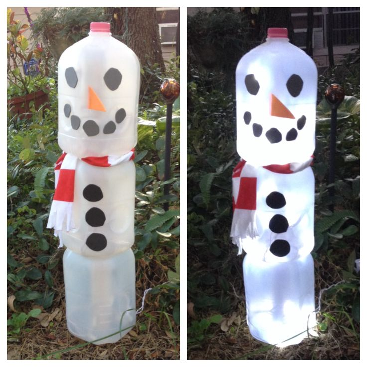 Snowman made from gallon milk jugs arts 39 n crafts for Christmas crafts with milk cartons