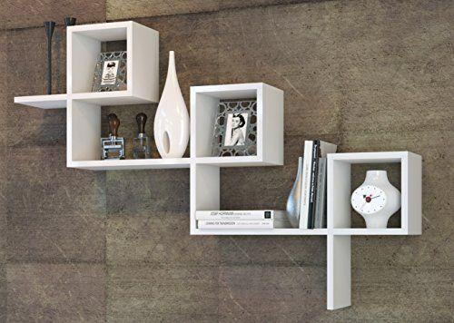 Holen Sie Sich Jetzt Wandregal   Hängeregal   Dekoregal   Bücherregal In  Coolem Design (Weiß)