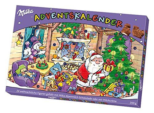 Milka Adventskalender Weihnachten sortiert, 1er Pack (1 x 200 g): Amazon.de: Lebensmittel & Getränke