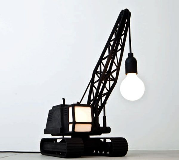 Crane inspired lamp. A really cute small version of the crane lifting ...