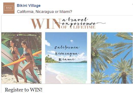 Bikini Village Sweepstakes: Win Trip to San Francisco, Ibiza or Montreal