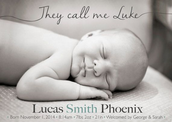 Boy BIRTH ANNOUNCEMENT They call me Photo Baby by babybaloo