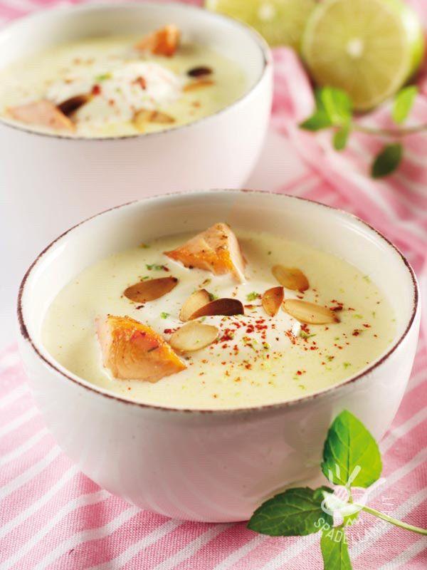 Potato and salmon cream - Se aspettate per cena amici che amano la delicatezza e la novità in cucina, questa è la pietanza che potete servire in tavola! Accompagnatela con grissini!