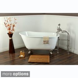 shop for slipper cast iron 53inch clawfoot bathtub get free delivery at overstock