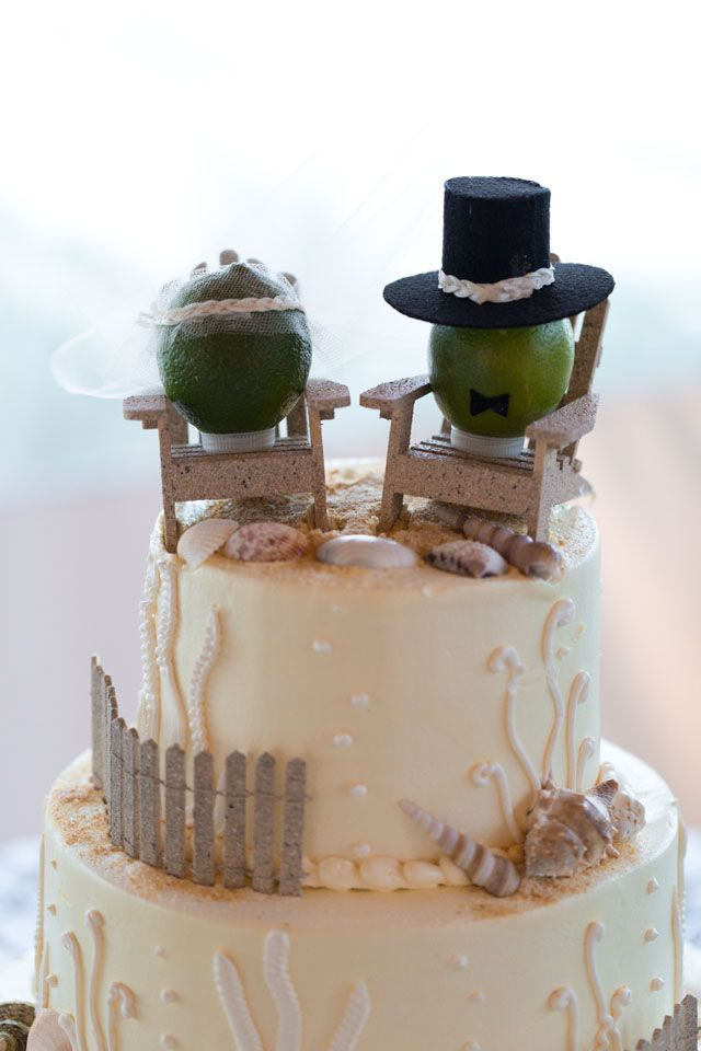 These are cute wedding toppers but also it would be cute to have little oranges or something