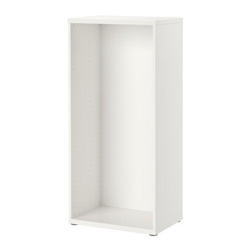 IKEA - BESTÅ, Stomme, vit, , Står stadigt även på ojämna golv, eftersom fötterna går att justera.Vill du organisera insidan kan du komplettera med inredning från serien BESTÅ.