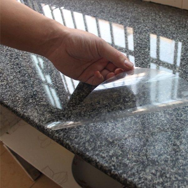 Kitchen Cabinet Anti Oil Transparent Wall Sticker Furniture