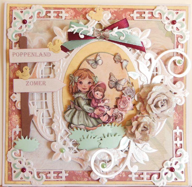 M.K  - met mal en knipvel van Amy design Eerste plaats in wedstrijd op Hobbyjournaal, met materialen van Amy design.