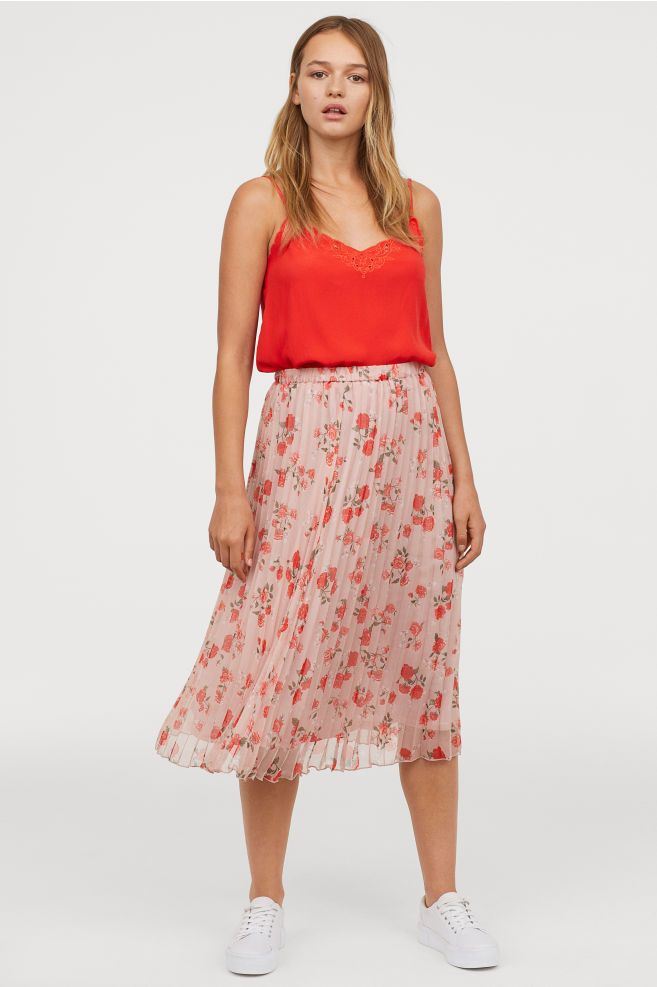 453e4de909 Pleated Skirt in 2019 | Clothes I love | Pleated skirt, Skirts, Calf ...