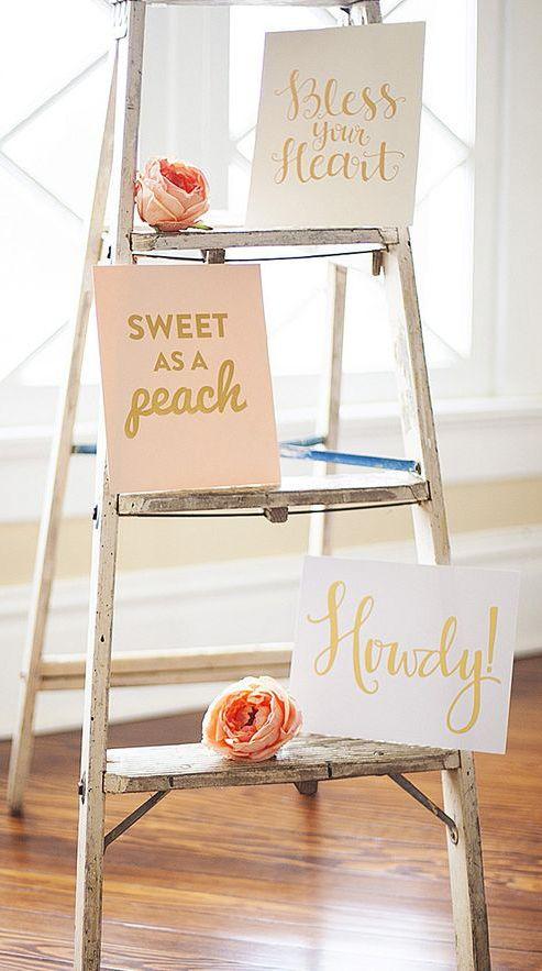 Gold 'Sweet as a Peach' Print