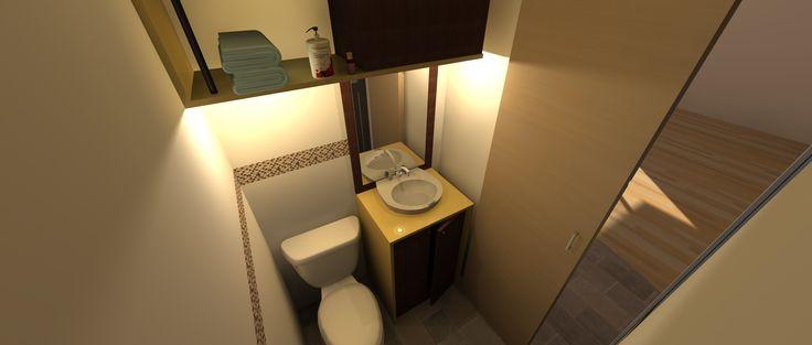baño trabajo realizado con cubico arquitectura