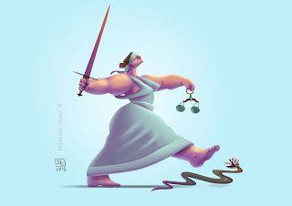 The art of Fogarasi Hunor: Lady Justice