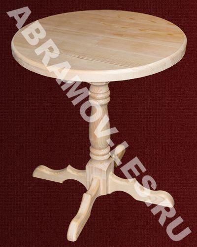 Стол из дерева на одной точеной ножке