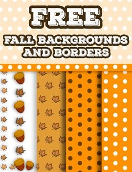 This cute Fall  Clip Art Pack Includes 5 very large, high definition clip-art borders and backgrounds for TeachersPayTeachers projects or personal lessons.Included are:-2 Fall Dot Pattern Backgrounds-Fall Leaf Pattern Background-Fall Acorn and Leaf Border-Fall Leaf BorderMake sure to follow me for this pack and more upcoming teaching resources!All images are in .png or .jpg format for easy use and layering for teaching materials and lesson plans.Check out my other Teaching resources at the…