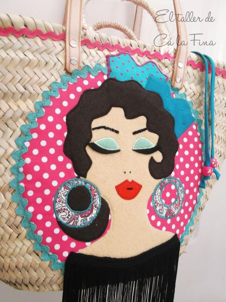 Cá la Fina.  Capazos flamencos personalizados 6