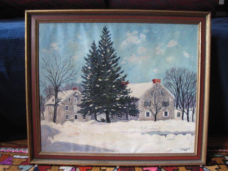 Harry Martin Book's Oil Painting, Pennsylvania, signed & dated 1946 #PennsylvaniaDutchlandscape
