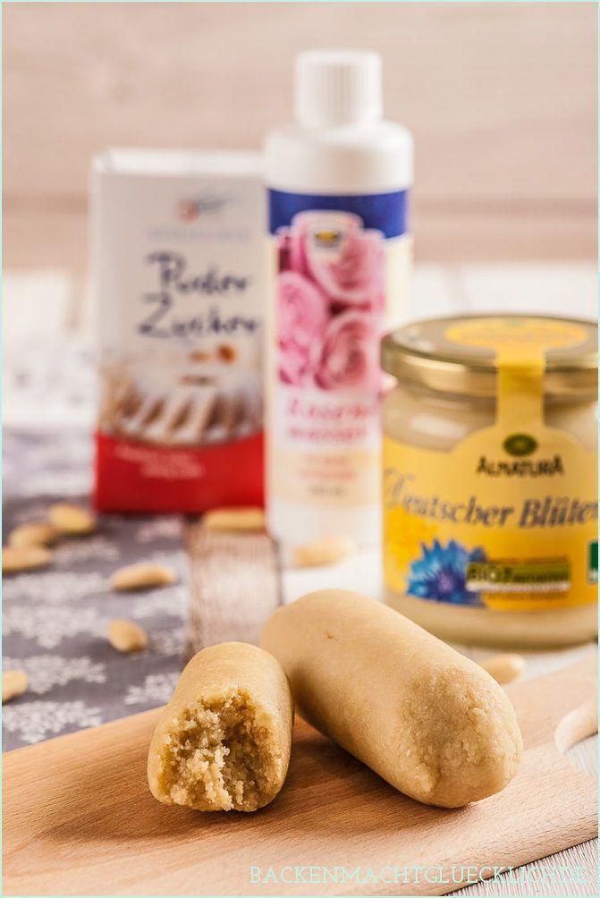 Backen macht glücklich | Marzipan selbermachen: mit Puderzucker, Honig, Süßstoff | http://www.backenmachtgluecklich.de