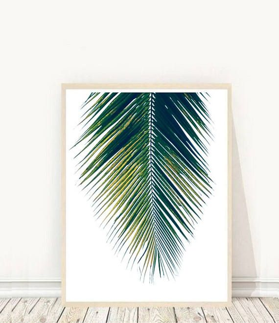Prints from $7.92 on Etsy Botanical Art Palm  Art Print Palm leaf Palm Leaf Print