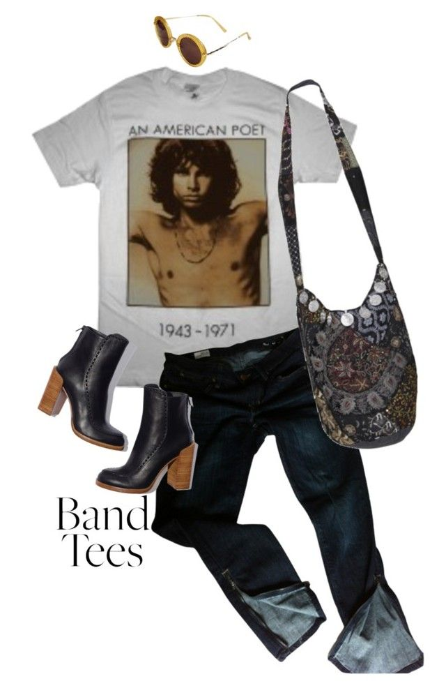 """""""I'm With the Band: Band T-Shirts"""" by weird-betty on Polyvore featuring Gap, Don't Ask Amanda and bandtees"""
