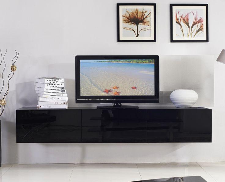 1.8m Majeston Black Floating TV Cabinet