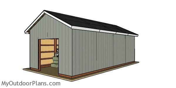 16 32 Pole Barn Free Diy Plans Woodworking Plans Free Diy Plans Pole Barn