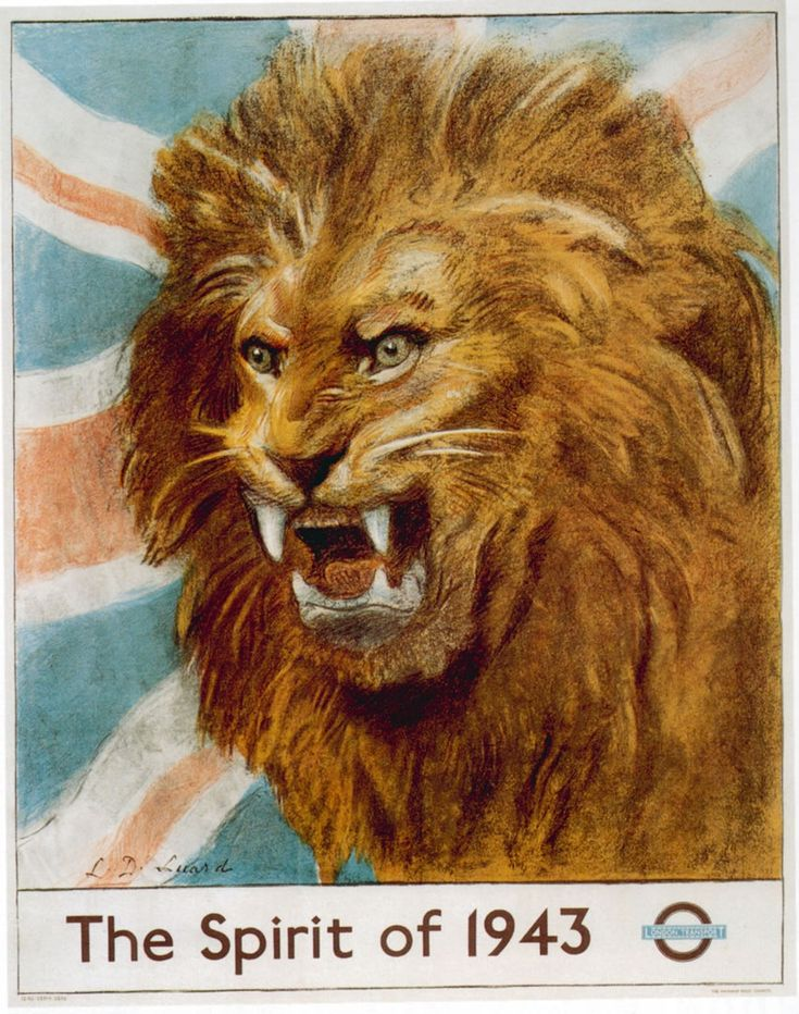 'The Spirit of 1943' London Underground Poster.