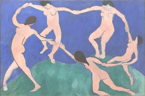 """Pintura de Matisse en la colección del MoMa Una de las obras maestras de Henri Matisse que refleja su uso particular del color y de la composición, con influencias de lo que los artistas de la época consideraban como """"culturas primitivas."""