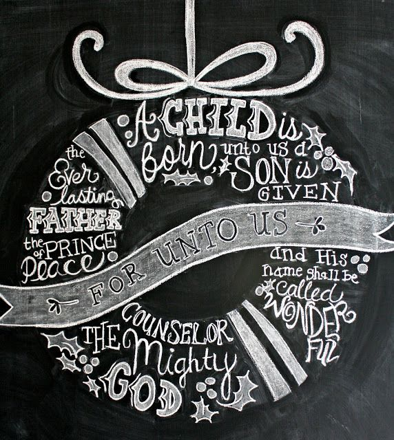 Christmas Chalkboard - The Lilypad Cottage