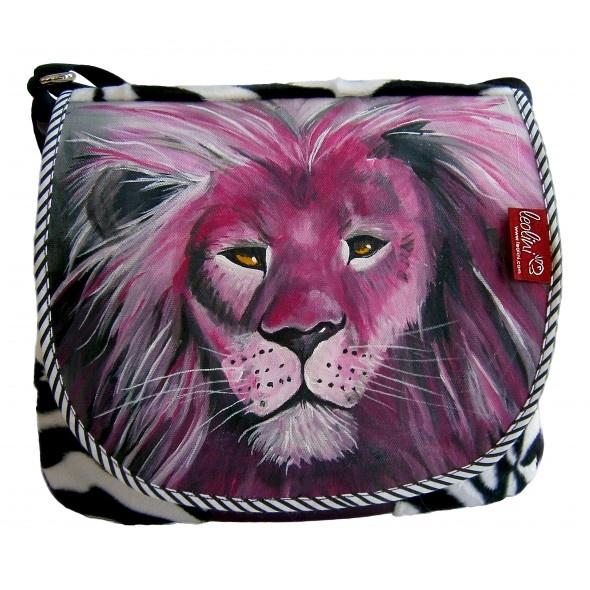 Pink Lion handgefertigte Tasche von Leolini