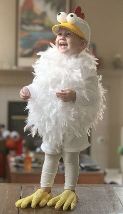 Image result for boy in chicken costume with styrofoam eyes costume
