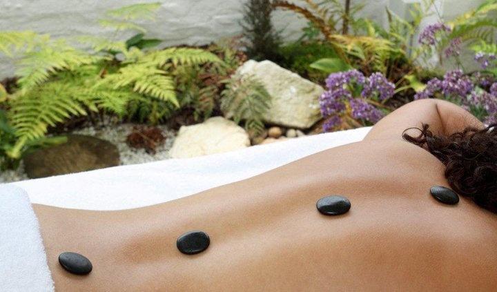 Hot stone massage at the Turbine Hotel & Spa, Knysna