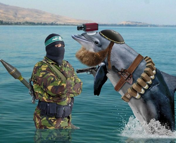 "On Aug. 20, 2015, the BBC published a news item to rival any written by The Onion. ""Hamas claims to have captured a dolphin being used as an Israeli spy off the coast of Gaza, local media report,"" the piece began. ""The militant Palestinian Islamist group, in Gaza, says the mammal was equipped with spying devices, including cameras, according to the newspaper Al-Quds."