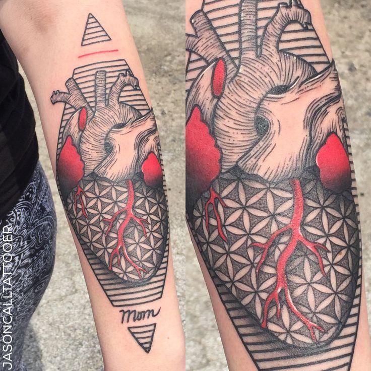 Heart Tattoo Done by Jason Call   DALLAS | Txhttps://www.instagram.com/jasoncalltattooer