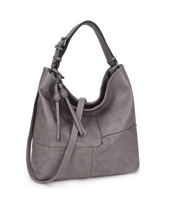 b7fc79ffed Womens Extra Large Soft Casual Hobo Tote Bag Vintage 3 Tones ...