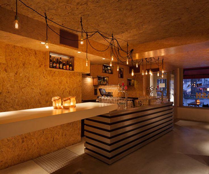 Las 25 mejores ideas sobre tablero aglomerado en for Bar restaurante