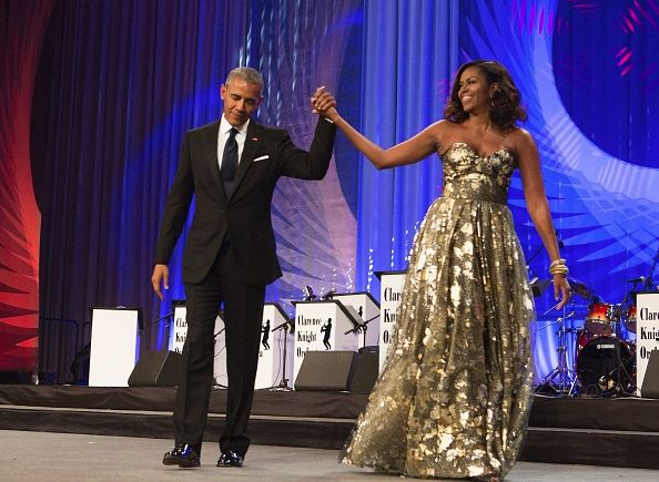 President Barack Obama and First Lady Michelle Obama at the Congressional Black Caucus Foundation's Phoenix Awards Dinner **** ****