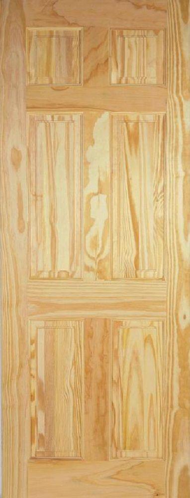 Leeds Doors Six Panel Door 78x28 Clear Pine - internal doors - clear pine - Six Panel Door 78x28 Clear Pine - Timber, Tool and Hardware Merchants established in 1933