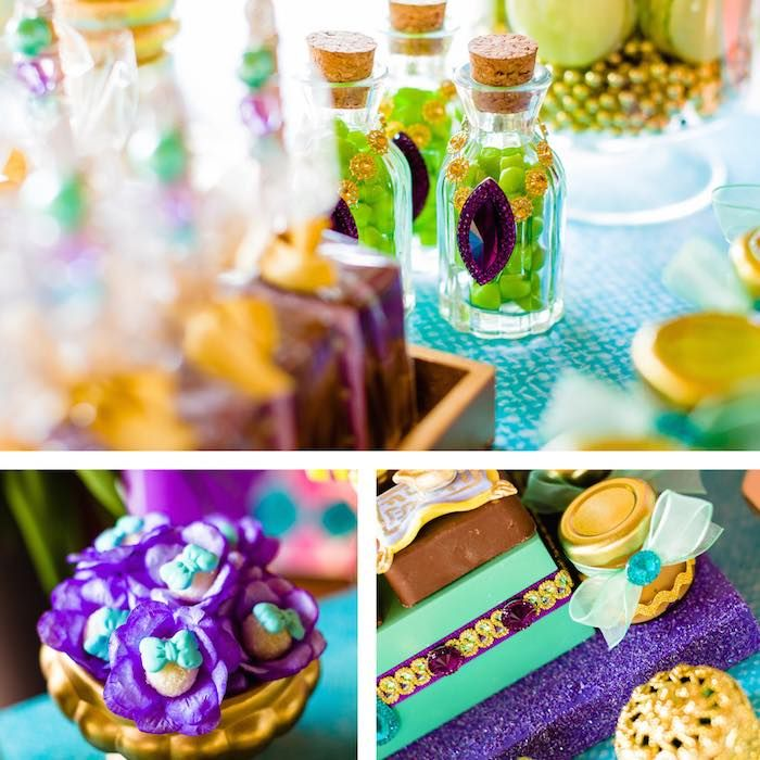 Favors from a Princess Jasmine Birthday Party via Kara's Party Ideas KarasPartyIdeas.com (5)