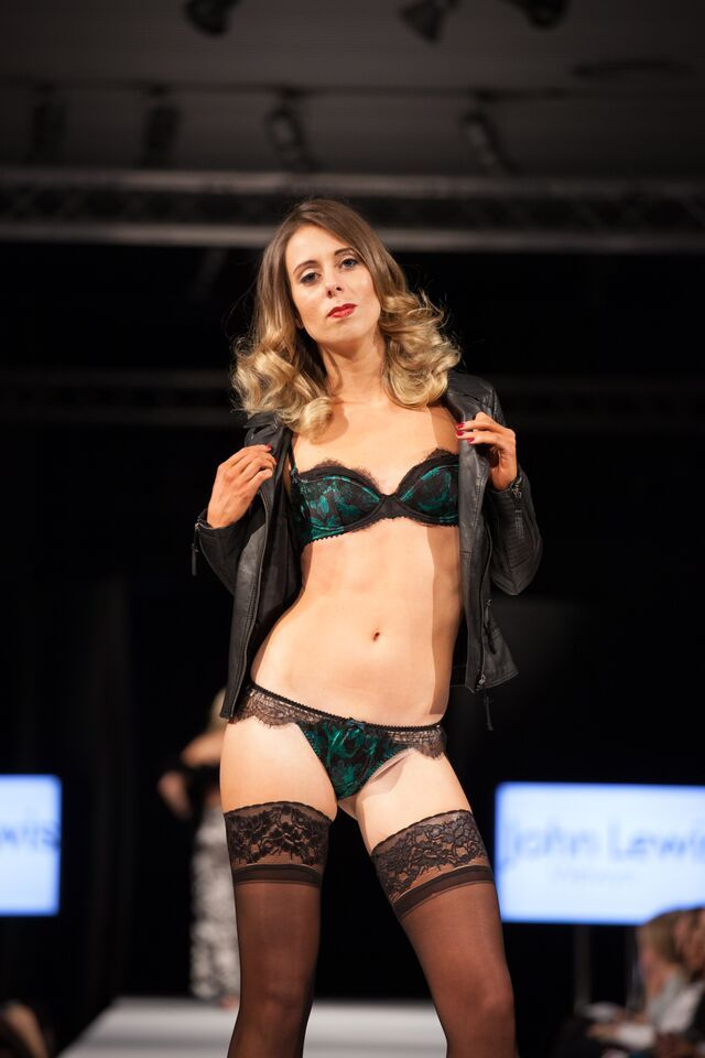 A sexy matching lingerie set in a beautiful green colour. #SAFW14