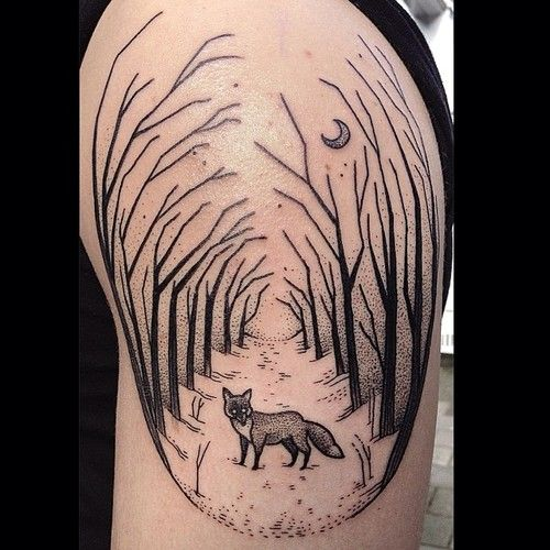 I have just fallen in love with the work of Susanne König!  Fox Tattoo | Susanne König