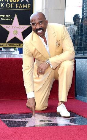 Steve Harvey, who else could get by with wearing a yellow suit...On Him it looks great...keep in mind, you wear the clothes...