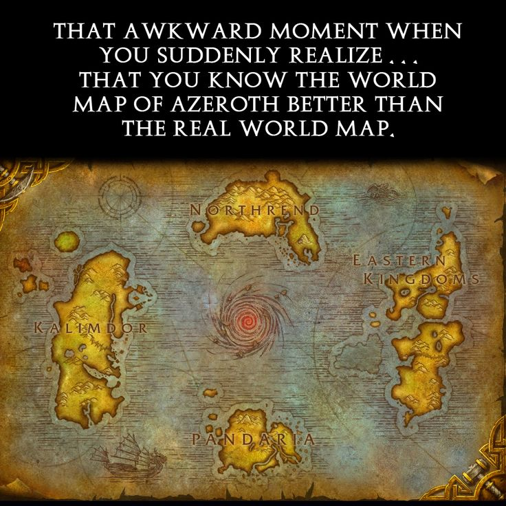 That awkward moment when you realize... you know the world map of Azeroth better than the real one. Geekymcfangirl.com WoW, World of Warcraft, Azeroth, horde and Alliance inspired jewelry line